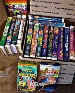 18 VINTAGE VHS WALT DISNEY MOVIES EXC Condition