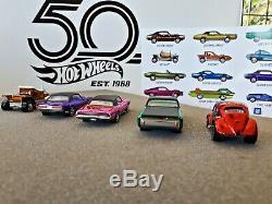 2018 Hot Wheels Rlc Original 16 Display 1/1500 Lot 5 Cars Loose Mint Condition