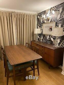 A Younger Ltd Sideboard, Afromosia Dining Table And 4 Chairs. Amazing Condition