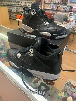 Air Jordan 4 Retro LS Oreo Black/Tech Grey 2015 Size 12.5 Excellent Condition