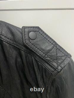 All saints black leather jacket Size M (Excellent Condition)