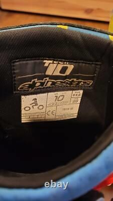 Alpinestars Tech 10 Size 10 Limited Edition Great Condition with Brand New Inner