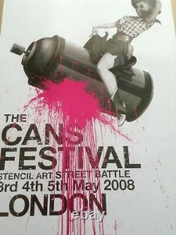 Banksy Cans Festival Very Rare Limited Edition Good Condition