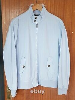Baracuta g9 Harrington Four Climes Jacket 40/42 Light Blue New Condition