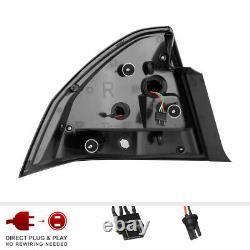 Black 06-13 Chevy Impala C-Shape LED Neon Tube Tail Light Brake Lamp Left+Right