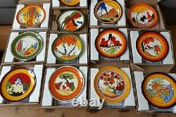 Clarice Cliff 12 x 8 Plates Wedgwood Centenary Ltd Edition Excellent Condition