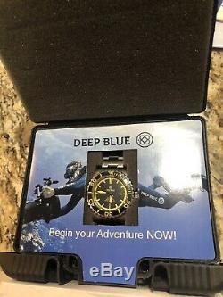 Deep Blue Master 2000, Swiss ETA 2824-2, Orange and Black, Excellent Condition