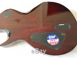 ESP LTD EC-1000 See Thru Dark Cherry FANTASTIC CONDITION EMG pickups mahogany
