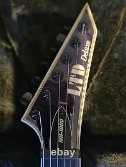 ESP LTD MH-1000NT, See-Thru Purple Excellent Condition with Gator Hardcase