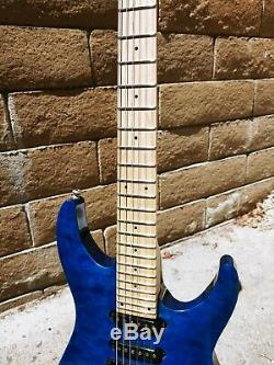 ESP LTD MH-103QM Quilted Maple See-Through Blue in near flawless condition