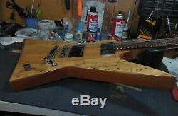 ESP Ltd FX 260SM Spalt Maple Top Explorer shape BEAUTIFUL Wood VGC