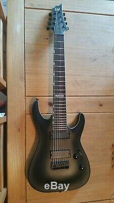ESP ltd h-338 8 string guitar MINT condition matt black