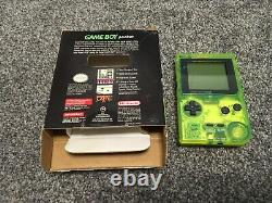 Extreme Green Limited Edition Nintendo Gameboy Pocket. Boxed. Nice Condition