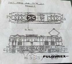 Fulgurex N Guage No 4208 SBB Ae3/611 10431 Electric Loco Excellent Condition