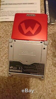 Game Boy Advance SP Mario Limited Edition Pack, Very Rare, Excellent Condition