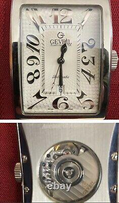 Gevril Avenue Of The Americas Swiss Automatic Mens Watch. 5007A. Great Condition