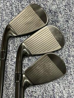 Good Condition Ltd Edition Titleist T200 Black Out Irons Amt S300 Black Shaft