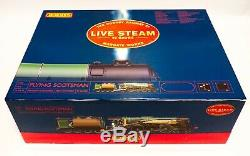 HORNBY R1058 LIVE STEAM SET'FLYING SCOTSMAN' in stunning and complete condition