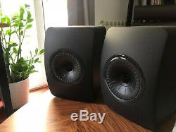 KEF LS50 Speakers Black Limited Edition Mint Conditions