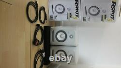 KRK Rokit RP5 G3 White Noise Limited Edition Great Condition Boxes + Cables