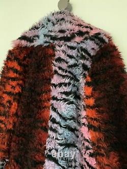 Kenzo X Hm Red Black & Pink Zebra Colour Faux Fur Coat! Excellent Condition