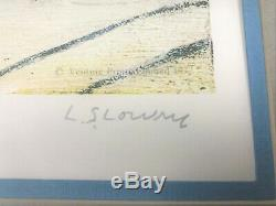 LS Lowry FERRY BOATS Genuine Signed Limited Edition Print Great Condition