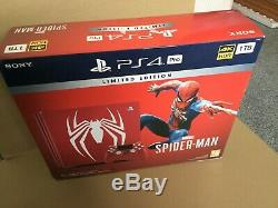 Limited Edition Amazing Red Marvels Spider-Man 1TB PS4 Pro Pristine Condition