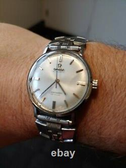 Men's Omega' vintage 1965 seamaster 550 cal. Service'd. Polished A-1 Conditions