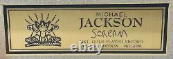 Michael Jackson Scream 45 Gold Record Limited Edition 983/3000 Mint Condition