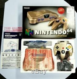 Nintendo 64 GOLD Color Console System Limited Edition Excellent Condition Rare