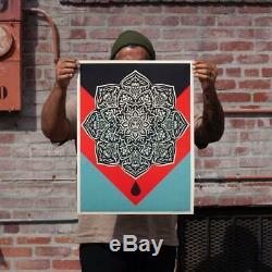 Obey Blood & Oil Mandala print set by Shepard Fairey s/# Mint Condition