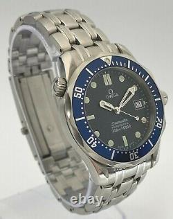 Omega Seamaster 25618000 Mid-Size Watch Blue 36.25mm Excellent Condition