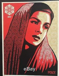 PEACE MUJER Shepard Fairey Signed Artist Proof Mint Condition Obey Giant