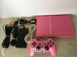 Playstation 2 Console Pink PS2 scph-77000 Japanese Ver in Very Good Condition