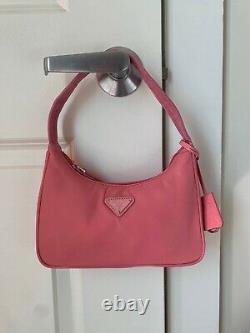 Prada 2000 Re-edition Nylon Pink Hobo Bag Great Condition