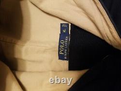 Ralph Lauren P Varsity Navy Hooded Coat Excellent condition XL rare find498.00