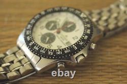 Rare Condition Display Demo Citizen Wht/blk Wr100 Chronograph Watch + Box Set