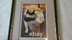 Signed Beryl Cook Two on a Stool 1991 LTD print GREAT CONDITION