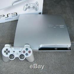 Sony PS3 Slim Satin Silver Limited Edition 3.55 OFW Excellent Condition