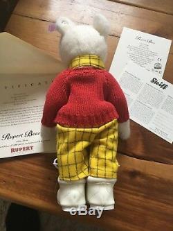 Steiff Rupert Bear Ltd Edition. Original Box, Mint Condition