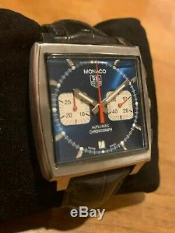 Tag Heuer Monaco Automatic CW2113. FC6183 Great Condition With Box And Papers