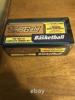 1992-93 Ensemble Scellé D'usine De Basketball D'or Topps + 7 Beam Team Mint Condition