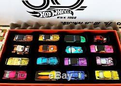 2018 Hot Wheels Original 16 Display 1/1500 Camaro Sur Mesure En Vrac État Neuf