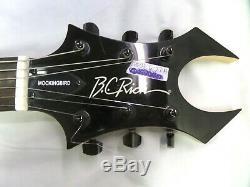 B. C. Rich Mockingbird Acrylique Limited Edition Transparent Red Guitar Bonne Forme