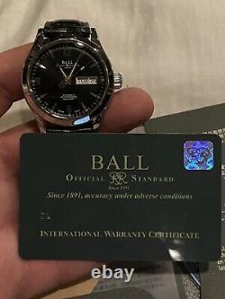 Ball Nm1020c Engineer Hommes Montre Automatique En Acier Great Condition! Bande En Cuir