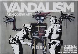 Banksy Au-delà Des Rues Vandalisme Affiche Mint Condition