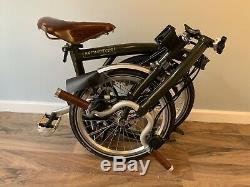 Brompton M6l Barbour, Limited Edition Folding Bike. Condition Excellente