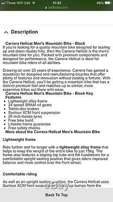 Carrera Hellcat Limited Edition Modèle 2018/2019 Excellent État