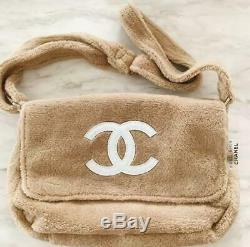 Chanel CC Nouveauté Sac À Bandoulière Fluffy Beige Blanc Edition Limitée Bon État