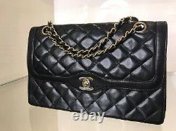 Chanel Like New Condition Medium Paris Limited Double Flap Handbag LIM Edit